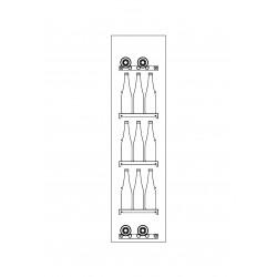 Vitrine d'angle pour gamme CVE-9