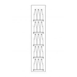 Meuble caisse d'angle pour gamme CVE-9
