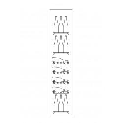 Meuble caisse droit pour gamme CVE-9