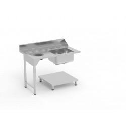 Table de pré lavage avec bac
