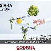 Retrouvez l'équipe CODIGEL au Sirha à Lyon, du 23 au au 27 septembre. Nous serons ravis de pouvoir échanger avec vous, ainsi que vous présenter nos nouveautés.📍Stand 5A110